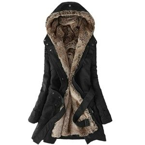 Winter Coat Hood Parka Overcoat Long Jacket